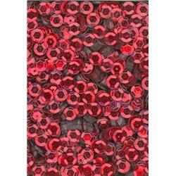 červené flitry 6 mm miska 6694-020 bal. 3 g (cca375ks)