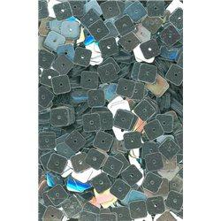 stříbrné flitry 6 mm čtvercové rovné 20900-124 bal. 3 g (cca240ks)
