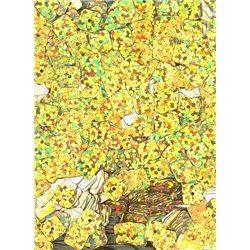zlaté flitry 6 mm čtvercové rovné 20900-183 bal. 3 g (cca240ks)