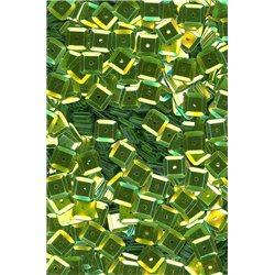 zelené flitry 6 mm čtvercové miska 20900-326 bal. 3 g (cca240ks)