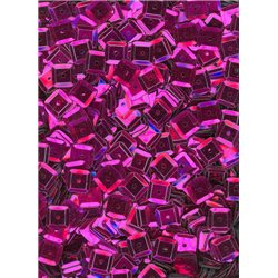fialové flitry 6 mm čtvercové miska 20915-144 bal. 3 g (cca240ks)
