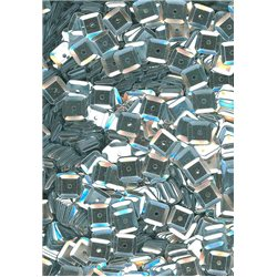 stříbrné flitry 6 mm čtvercové miska 20915-124 bal. 3 g (cca240ks)