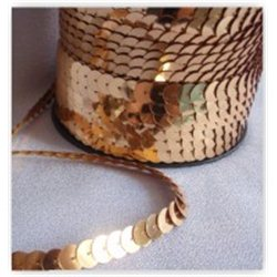 Flitry zlaté na niti 10 mm 965-196
