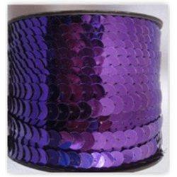 fialové flitry 10 mm (1 cm) na niti 965-832 bal. 1 m