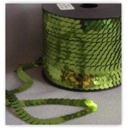 zelené flitry 10 mm (1 cm) na niti 965-326 bal. 1 m