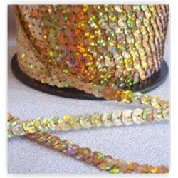zlaté flitry 6 mm (0,6 cm) na niti 963-183 bal. 1 m