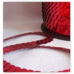 červené flitry 6 mm (0,6 cm) na niti 960-020 bal. 1 m
