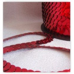 Flitry červené na niti 6 mm 960-020