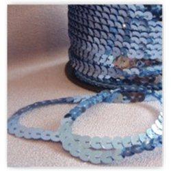 Flitry světle modré na niti 6 mm 960-024