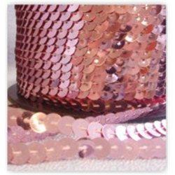 růžové flitry 6 mm (0,6 cm) na niti 960-037 bal. 1 m