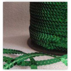 zelené flitry 5 mm (0,5 cm) na niti 950-011 bal. 1 m