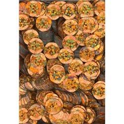 oranžové flitry 10 mm (1 cm) miska 6741-205 bal. 3 g (cca130ks)