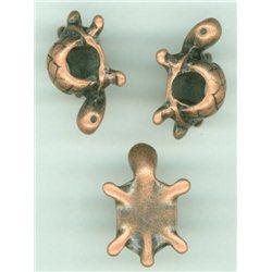 Želva - korálek kovový, L2014