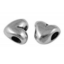 SRDÍČKO - kovový korálek L2023