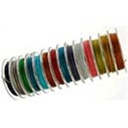Ocelové lanko (0,45 mm) - L1012 bílé - průměr 0,38mm ,  bal. 1 m