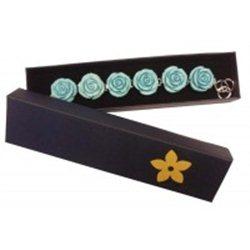 Krabička na šperky modrá s žlutou kytičkou L1034