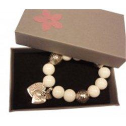 Krabička na šperky šedá s růžovou kytičkou L1035