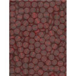 Korálky kulaté, skleněné placičky 111-49-004  6mm červené