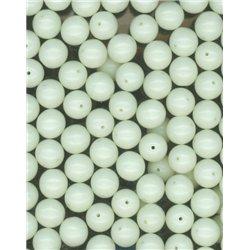 Korálky, mačkané skleněné kuličky, 111-19-001 8mm, 83539