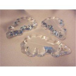 skleněný lustrový ověs 53x35 mm, pendle, krystal