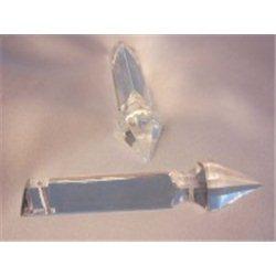 Lustrový ověs, skleněný 77x15 mm, prisma, krystal