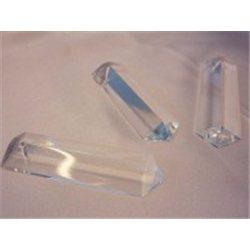 Lustrový ověs, skleněný 62x18 mm, prisma, krystal