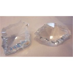 Lustrový ověs, skleněný 50x38 mm, Natálie, krystal