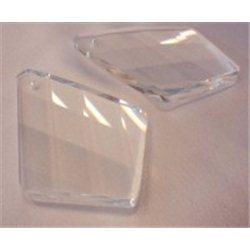 Lustrový ověs, skleněný 60x41 mm, vachtle, krystal