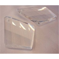 skleněný lustrový ověs 60x41 mm, vachtle, krystal