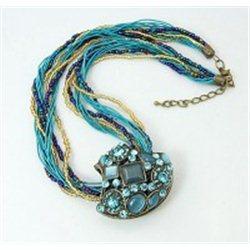 Náhrdelník  s modrými drahokamy L2289