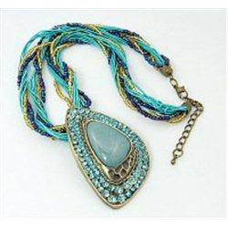 Náhrdelník  s modrými drahokamy L2292
