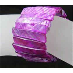 Náramek z perleťoviny, přírodní, růžový L2134