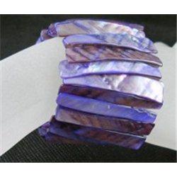 Náramek z perleťoviny, přírodní, fialový L2133