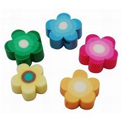 Korálek polymerový, květina 4ks L2158