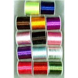 Plochá lykra, lycra průměr 0,8 mm, mix barev L2140