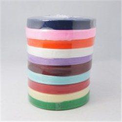Stuha - organza šířka 10 mm (1 cm) L2423 mix barev - 1cívka vínová