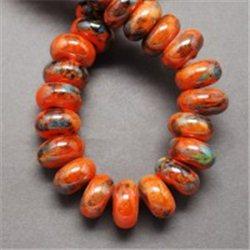 Porcelánový korálek, oranžový L2530