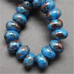 Porcelánový korálek, modrý L2531