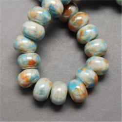 Porcelánový korálek, slonovina L2534