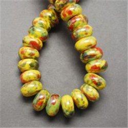 Žlutý porcelánový korálek L2533