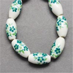 Bílý porcelánový korálek L2535