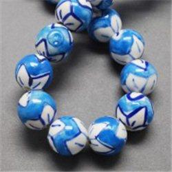 Porcelánový korálek, modrý L2536