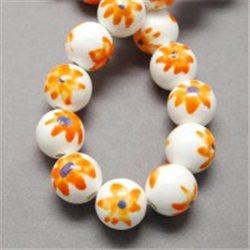 Porcelánový korálek, bílý L2538