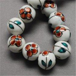 Porcelánový korálek, bílý L2540