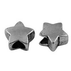 HVĚZDA kovový korálek L2547