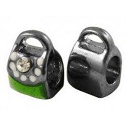 Korálek kovový, kabelka L2549