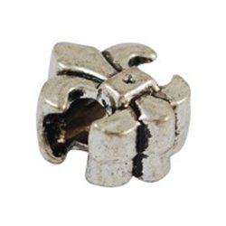 Korálek kovový, lilie 6 ks L2555