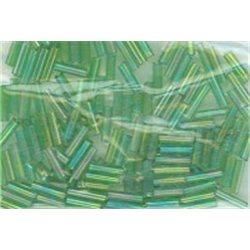 Rokail Bugles (čípky) zelená s AB, (6-7 mm) č. 167S balení 50g 50 g