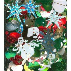 Flitry MIX Vánoce 5454-099 Flitry MIX tvarů a barev - Vánoce 5 g
