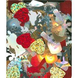 Flitry MIX tvarů a barev Ceremonie 7844-099